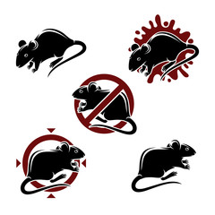 Mouse animals set. Vector