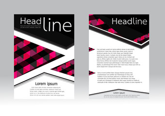 Geometric Vector Brochure Template. Flyer Layout in A4 size