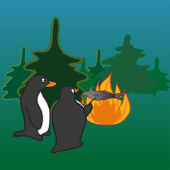 Penguins camfire