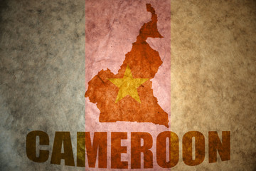 cameroon vintage map