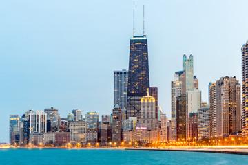 Photo sur Toile Chicago Chicago at dusk