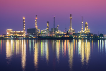 Oil Refinery at twilight