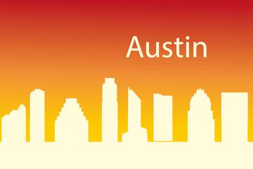 Austin,Texas city silhouette