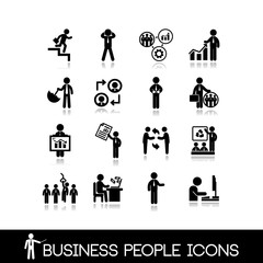 Business people icons set 6.