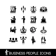 Business people icons set 7.