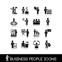 Business people icons set 8.