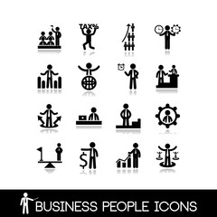Business people icons set 9.