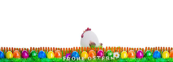 Frohe Ostern Karte Freisteller