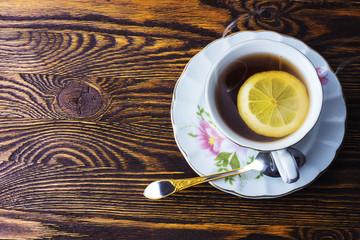 Mug of hot tea