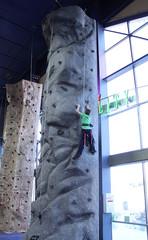Boy Climbing Rock Wall