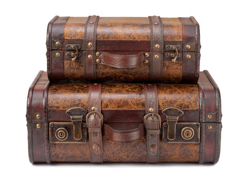 Two Old Suitcases Stacked