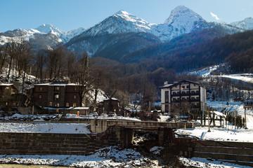 The ski resort of Krasnaya Polyana. Rosa Khutor. Sochi. Russia.