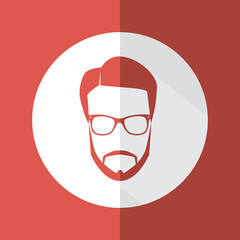 Man with beard and glasses avatar in a flat design