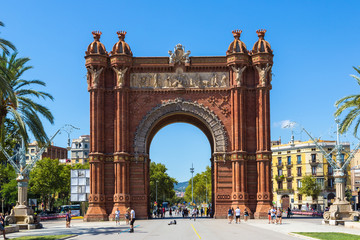 Triumph Arch in Barcelona, Spain