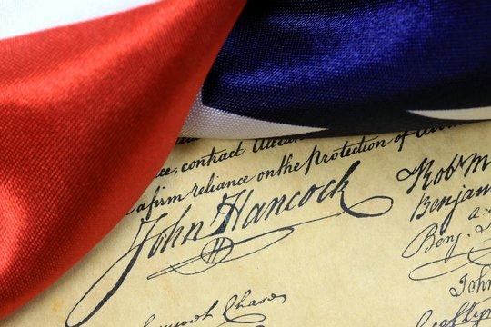 John Hancocks signature US constitution