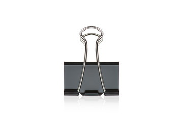 Clip black for document or paper clip attachment