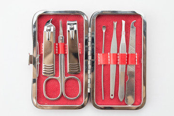 Tools of a manicure set isolated
