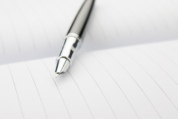 Fountain pen in a notebook