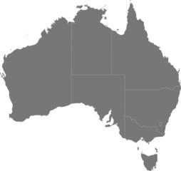 Australia – map of the regions