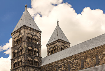 Lund cathedral steeples
