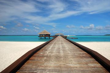 Jetty on a Maldivian island
