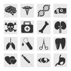 Medical icons set. Set elements for design. Vector illustration.