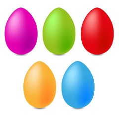 happy easter color eggs