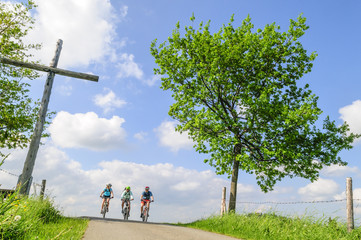 Fototapete - Radtour