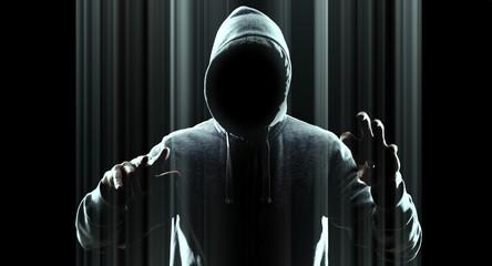 Cybercrime futuristic technology concept