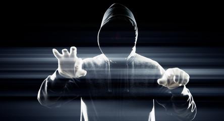 Futuristic hacker attack cybercrime