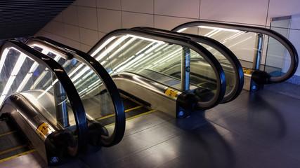 Glowing Escalators