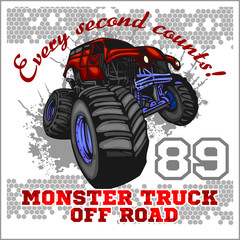 Monster Truck - off road badge
