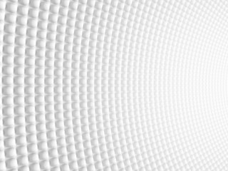 Abstract Spheric Geometric Curved White Background. Modern Futur