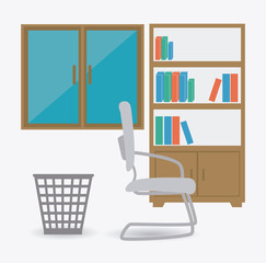 Office design, vector illustration.
