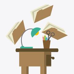 Office design, vector illustration.