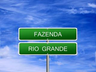 Fazenda Rio Grande Sign