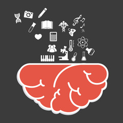 Brain design, vector illustration.