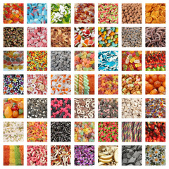 sweets collage