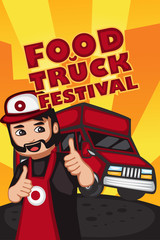 Food truck festival poster