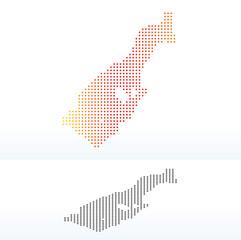 Map of Principality  Monaco with Dot Pattern
