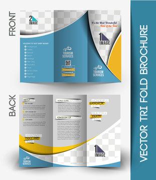 Travel Tri-Fold Brochure Design.