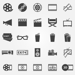 Movie or cinema icons