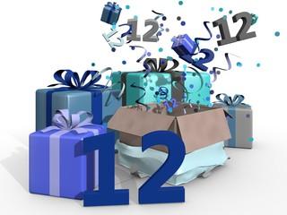 Blauwe cadeaus voor de twaalfde