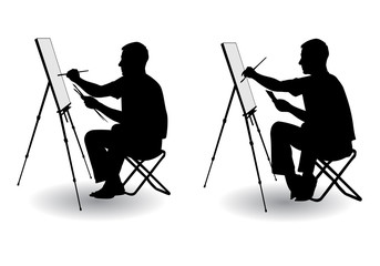 artist draws