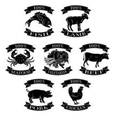 Food animals 100 percent set