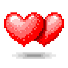 Double Heart pixel concept