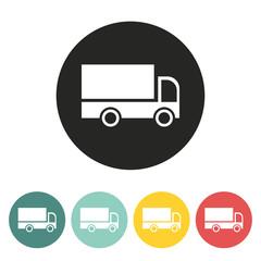 Cargo van icon.