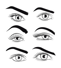 Vector template eyes. Vector illustration