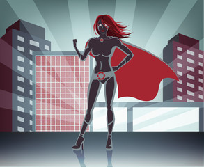 Vector super woman illustration
