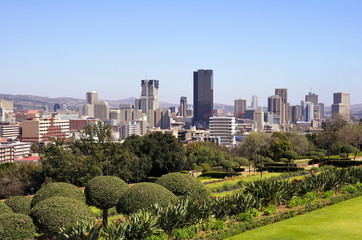 Spoed Fotobehang Zuid Afrika City of Pretoria Skyline, South Africa